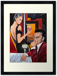 Couple Therpay - Framed - Painting by Giselle