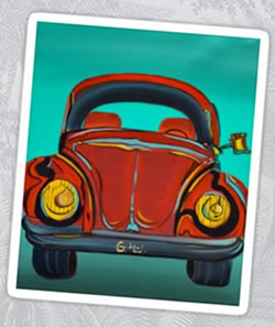 VW Beetle - Volkswagen by Giselle