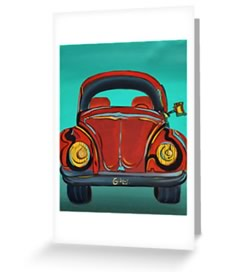 Volkswagen - Beetle Paiinting by Giselle