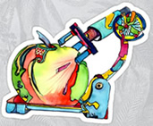 Food under the  Microscope Sticker