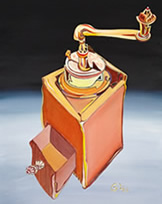 Oracle Card - Coffee Grinder- painting