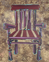 Oracle Card - Chair - painting