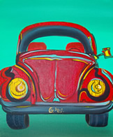 Oracle Card - Beetle - painting