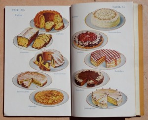 German Cookbook from 1927 - showing Cakes