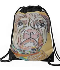 Drawstring Bag Design by Giselle