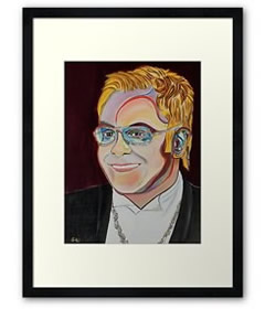 Wall Art - Framed Prints - Elton John